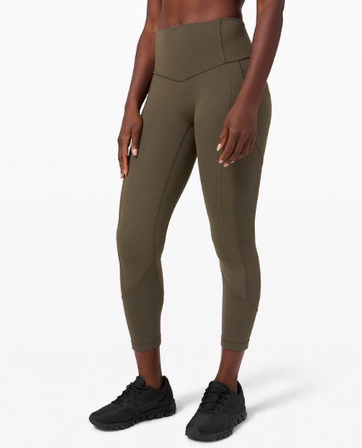 Lululemon All the Right Places Crop in dark olive