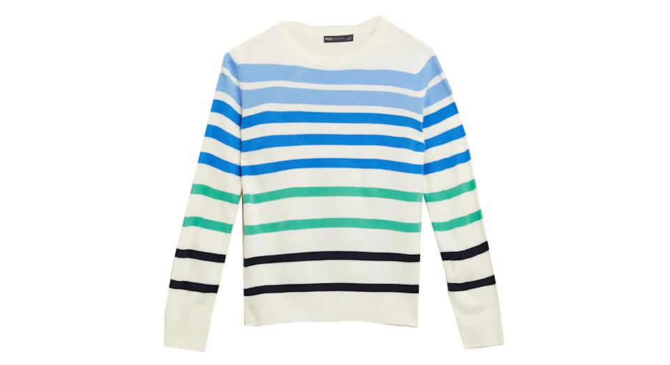 Supersoft Striped Crew Neck Jumper