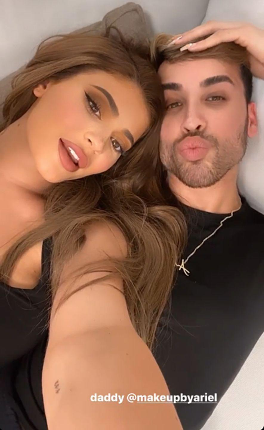 """<p>Kylie Jenner showed off her newest tattoo in a selfie on her Instagram story with her makeup artist, Ariel Tejada. The ink, on her inner left arm, reads """"4:43,"""" which is the time that Stormi was born, according to <em><a href=""""https://www.tmz.com/2018/02/08/stormi-webster-birth-certificate-kylie-jenner-travis-scott/"""" rel=""""nofollow noopener"""" target=""""_blank"""" data-ylk=""""slk:TMZ"""" class=""""link rapid-noclick-resp"""">TMZ</a></em>. This isn't Kylie's only Stormi-dedicated tat (she has her daughter's name above her right elbow as well), but the subtly and simplicity of this one is too precious. </p>"""