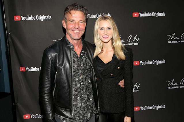 Dennis Quaid and Laura Savoie attend Cash Fest on November 10, 2019 in Nashville, Tennessee. (Photo by Terry Wyatt/Getty Images for YouTube)