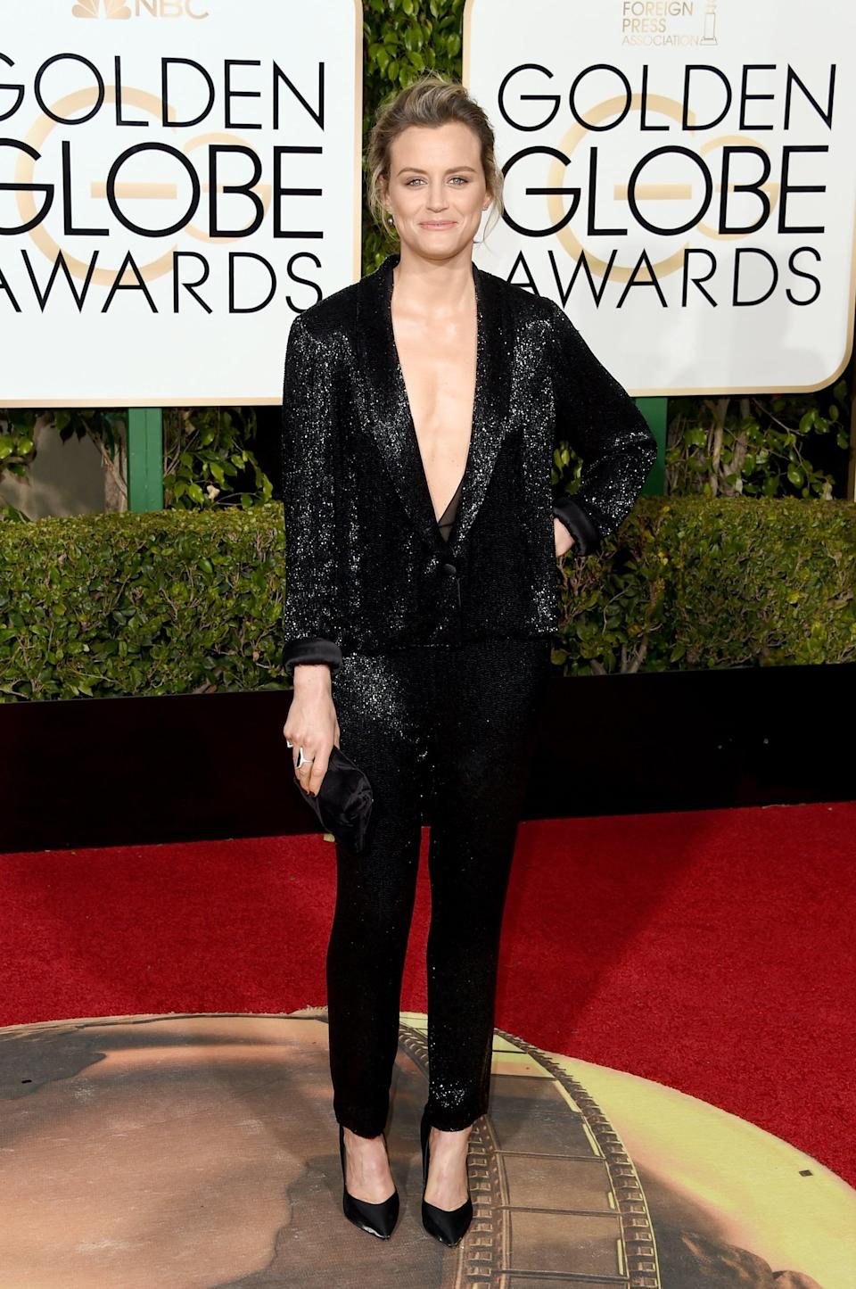 <p>Taylor wore Thakoon to the 2014 Golden Globe Awards.</p>
