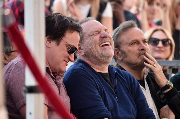 "<div class=""inline-image__caption""><p>Quentin Tarantino and Harvey Weinstein attend a ceremony honoring Ennio Morricone with a star on The Hollywood Walk of Fame on February 26, 2016, in Hollywood, California.</p></div> <div class=""inline-image__credit"">Alberto E. Rodriguez/Getty</div>"