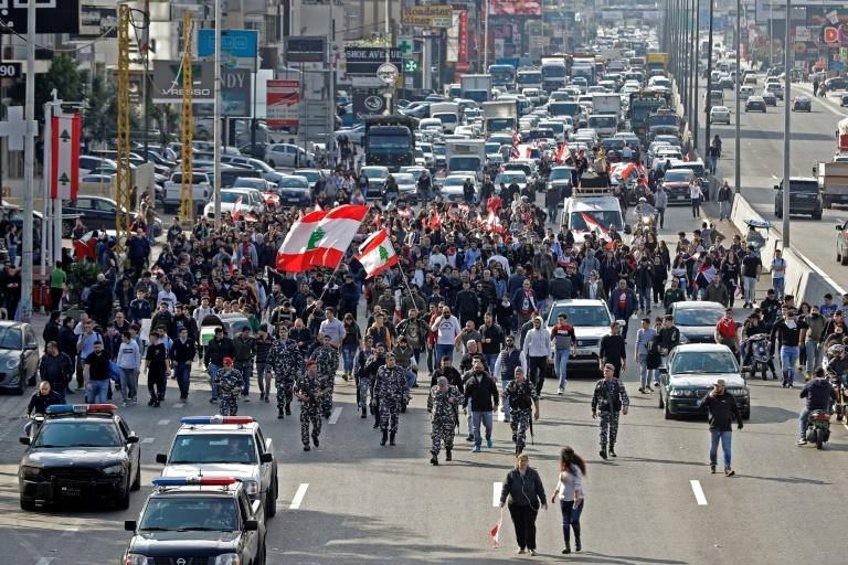 The traffic jams are back in Lebanon as protesters block major highways in and out of the capital