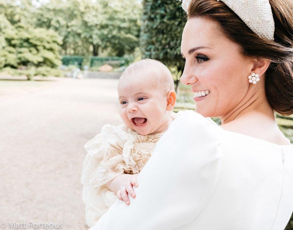 The photo was released in addition to the official photos from Prince Louis' christening. [Photo: Matt Porteous]