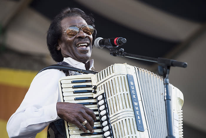Buckwheat Zydeco, aka Stanley Dural Jr., was a pioneering zydeco artist, widely credited with bringing the Louisiana musical genre to the mainstream. He passed away on Sept. 24 from lung cancer. He was 68. (Photo: Getty Images)