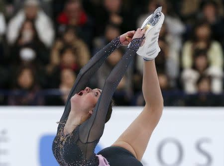 Figure Skating - ISU World Championships 2017 - Ladies Free Skating - Helsinki, Finland - 31/3/17 - Evgenia Medvedeva of Russia competes. REUTERS/Grigory Dukor