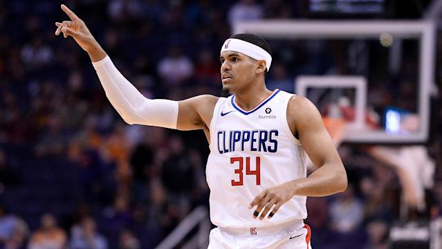 Tobias Harris can fill some needs for the 76ers. (AP)