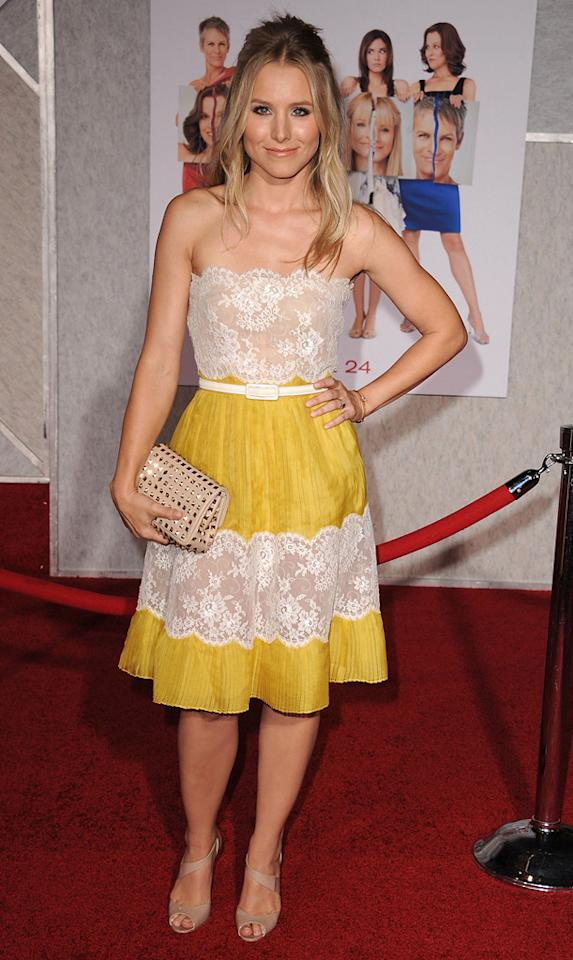 """<a href=""""http://movies.yahoo.com/movie/contributor/1808491155"""">Kristen Bell</a> attends the Los Angeles premiere of <a href=""""http://movies.yahoo.com/movie/1810111331/info"""">You Again</a> on September 22, 2010."""