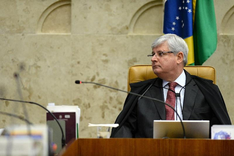 Brazil's Prosecutor General Rodrigo Janot is planning to investigate 108 politicians, including ministers, state governors, senators and members of the lower house of Congress, for corruption (AFP Photo/ANDRESSA ANHOLETE)