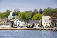 <p>Even its name is enchanting! Mystic, Connecticut, is one of those adorable New England towns you think only exists in picture books. As you stroll down the main road, you'll encounter idyllic summer scenes like ice cream shops, sailboats on the harbor, and a certain pizza shop made famous by one Julia Roberts. There are great dining options, beautiful waterfront views, and even a famous aquarium. </p>