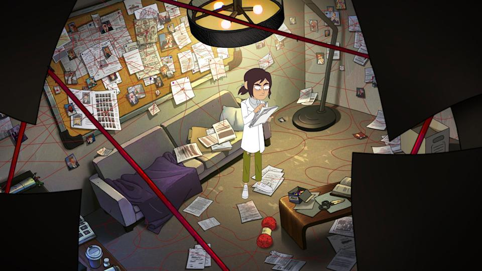 """<strong><em>Inside Job </em></strong><br><br>Ever since the end of <em>BoJack Horseman</em>, we've been looking for a nihilistic adult animated comedy to take its place – and this could be the one. It follows antisocial tech genius Reagan Ridley, whose job involves her solving the world's conspiracies. Amid a workplace filled with reptilian shapeshifters and psychic mushrooms, see Ridley and her dysfunctional team uncover everything from complex cover-ups to secret societies and masked orgies. Just your average day in the office. <br><br>Available 22nd October<span class=""""copyright"""">Photo Courtesy of Netflix.</span>"""