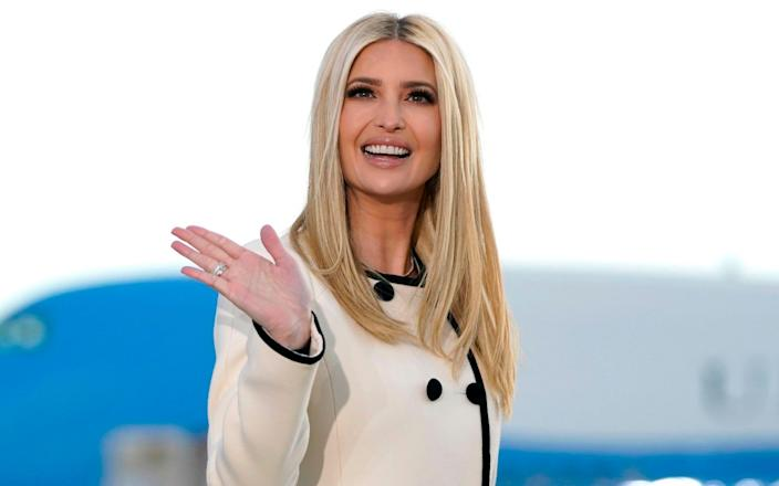 Ivanka Trump on 20th January 2021, at Joint Base Andrews in Maryland for US President Donald Trump's departure