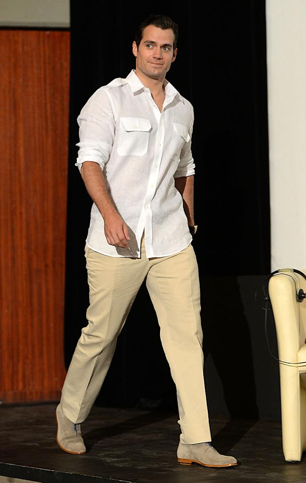 TAORMINA, ITALY - JUNE 15: Actor Henry Cavill attends 'Man of Steel' Press Conference during the Taormina Filmfest 2013   on June 15, 2013 in Taormina, Italy.  (Photo by Venturelli/Getty Images)