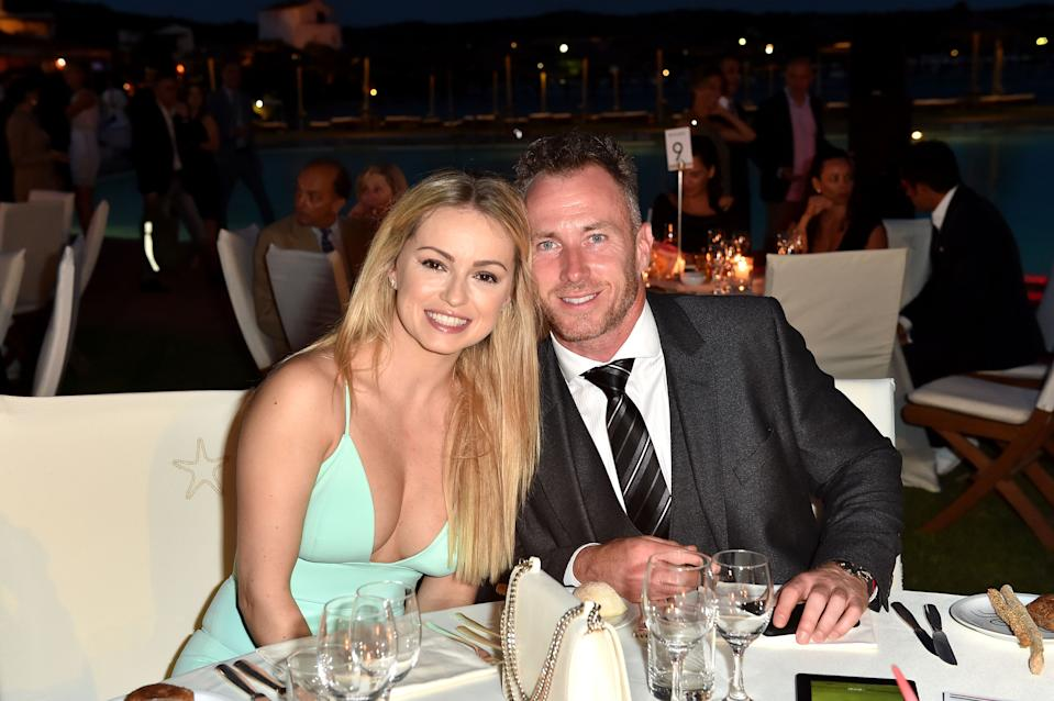 OLBIA, ITALY - JUNE 25:  Ola Jordan and James Jordan attend the Gala Dinner during The Costa Smeralda Invitational golf tournament at Pevero Golf Club - Costa Smeralda on June 25, 2016 in Olbia, Italy.  (Photo by Tullio M. Puglia/Getty Images for Professional Sports Group )