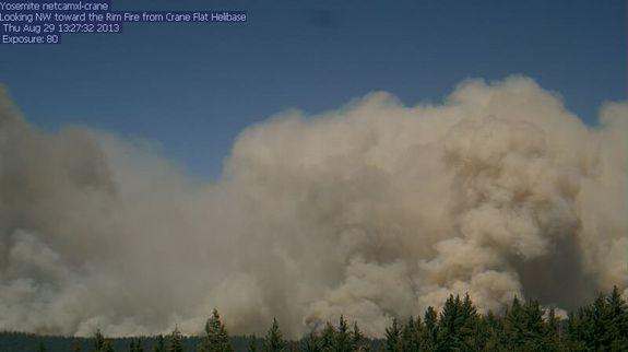 Raging Rim Fire Captured on Time-Lapse Video