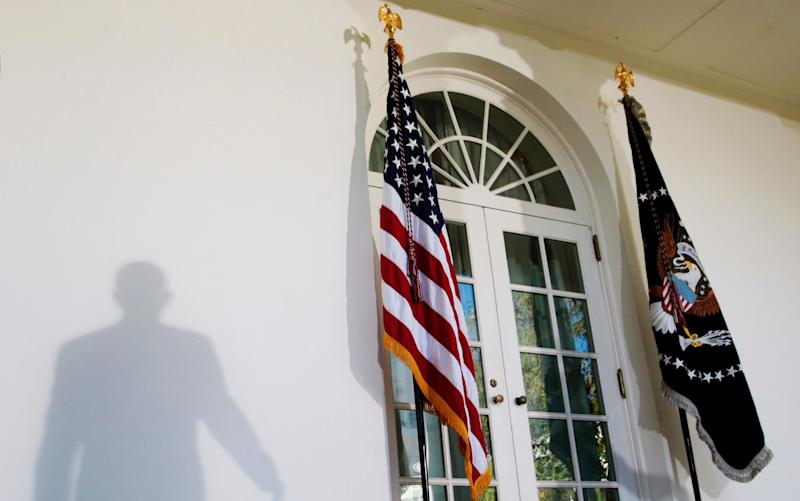 The entrance to the White House - AP