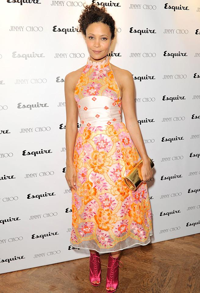 LONDON, ENGLAND - JUNE 16:  (EMBARGOED FOR PUBLICATION IN UK TABLOID NEWSPAPERS UNTIL 48 HOURS AFTER CREATE DATE AND TIME. MANDATORY CREDIT PHOTO BY DAVE M. BENETT/GETTY IMAGES REQUIRED)  Thandie Newton attends the Jimmy Choo & Esquire London Collections:Men opening night party at Loulou's, 5 Hertford Street, on June 16, 2013 in London, England.  (Photo by Dave M. Benett/Getty Images for Jimmy Choo & Esquire)