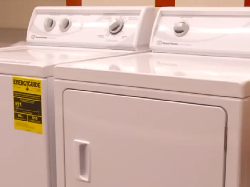 Washing machines and showers have been installed in the laundry room for homeless students: Screenshot
