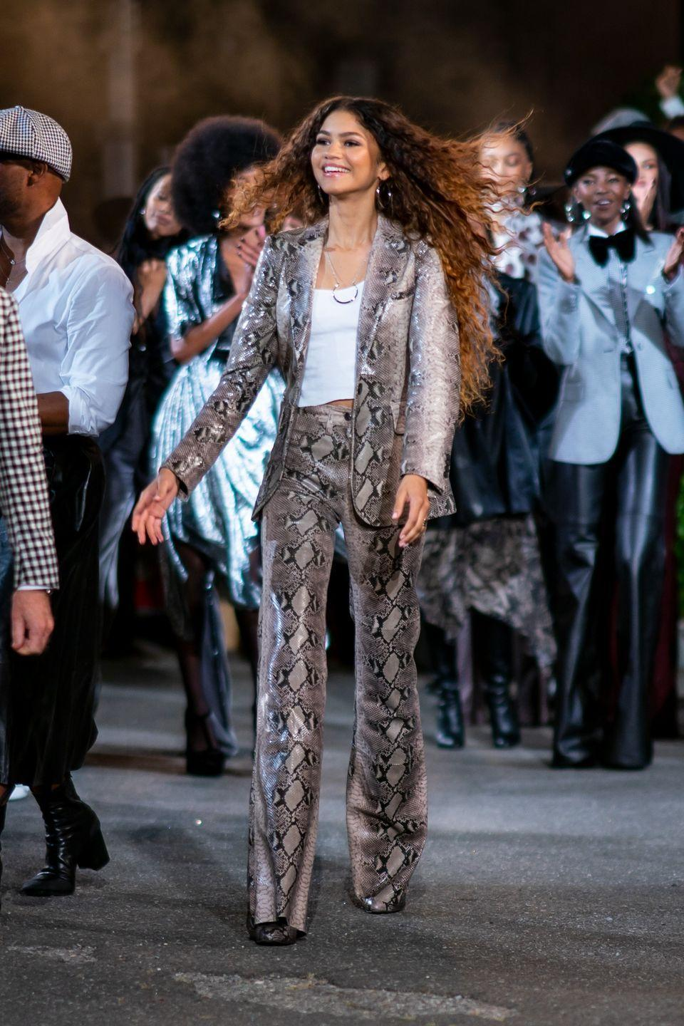 <p>Come off instantly edgy with a pair of python printed pants. Add a matching jacket to recreate the entire Zendaya look.</p>