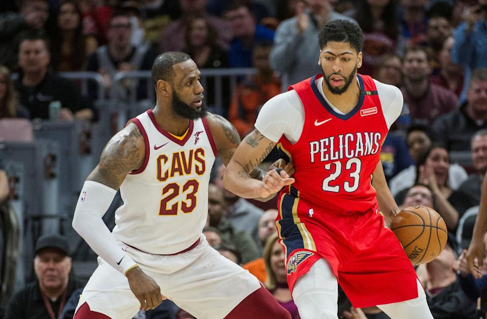 LeBron James is chasing a fifth career MVP, while Anthony Davis going for both MVP and Defensive Player of the Year. The two will have to fight it out with James Harden for the league's top honor. (AP Photo)