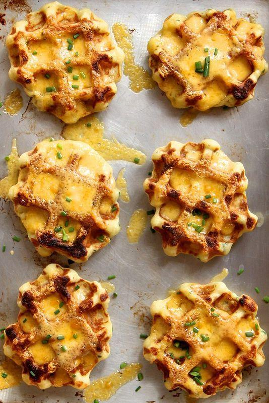 """<p>Never wonder what to do with leftover mashed potatoes again.</p><p>Get the recipe from <a rel=""""nofollow noopener"""" href=""""http://joythebaker.com/2013/09/mashed-potato-cheddar-and-chive-waffles/"""" target=""""_blank"""" data-ylk=""""slk:Joy the Baker"""" class=""""link rapid-noclick-resp"""">Joy the Baker</a>.</p>"""