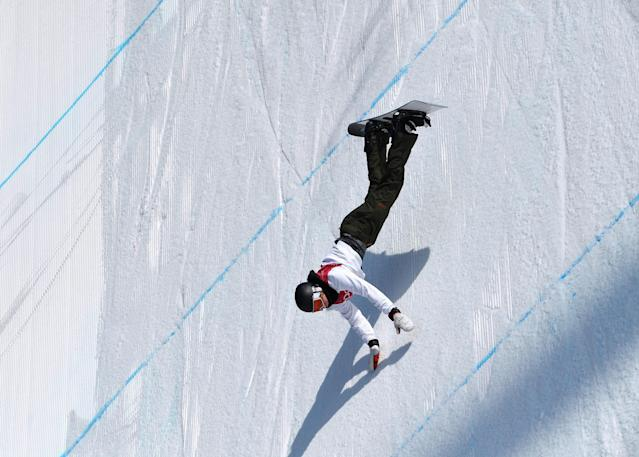 Snowboarding - Pyeongchang 2018 Winter Olympics - Men's Big Air Qualifications - Alpensia Ski Jumping Centre - Pyeongchang, South Korea - February 21, 2018 - Clemens Millauer of Austria competes. REUTERS/Toby Melville TPX IMAGES OF THE DAY