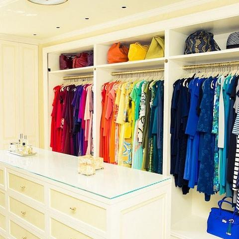 One of the many wonderful wardrobes you'll find out The Coveteur - Credit: The Coveteur/Instagram