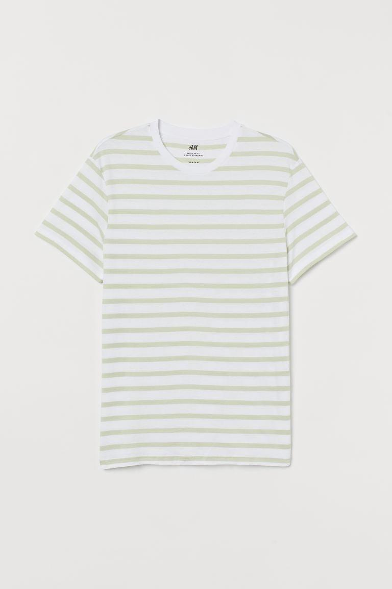 <p>The pistachio shade of this <span>H&amp;M Crew-neck T-shirt</span> ($10) is so refreshing.</p>
