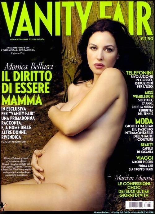 <p>Monica Bellucci on the cover of <em>Vanity Fair</em> Italy, 2004 </p>