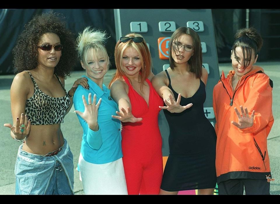 <strong>1997</strong>  The Spice Girls lend their support at the launch of  TV station Channel 5