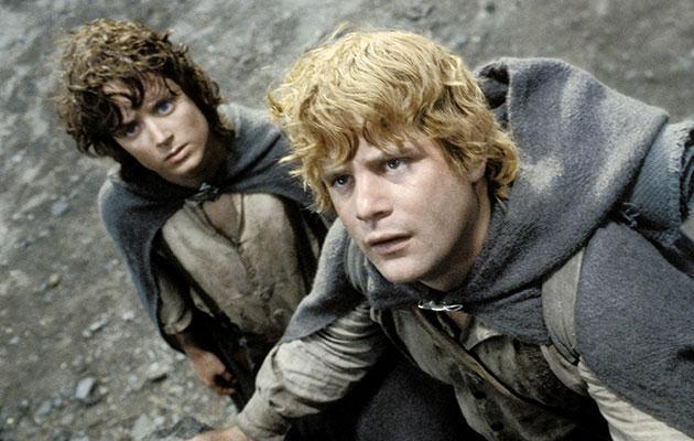 Sean Astin and Elijah Wood in The Lord of The Rings.