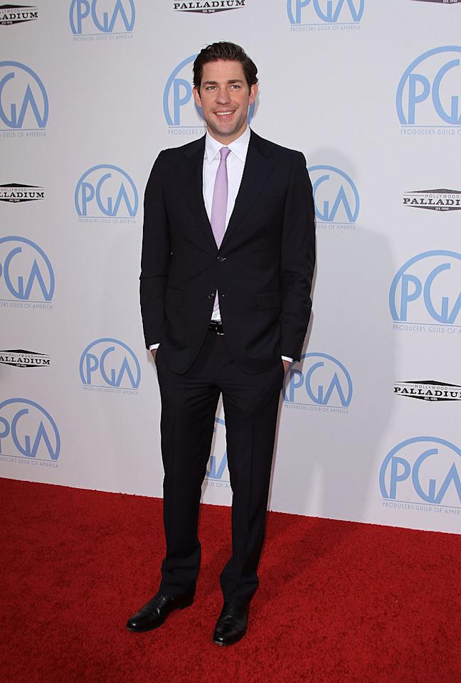 "<a href=""http://movies.yahoo.com/movie/contributor/1808573056"">John Krasinski</a> at the 21st Annual Producers Guild Awards in Hollywood, California - 01/24/2010"