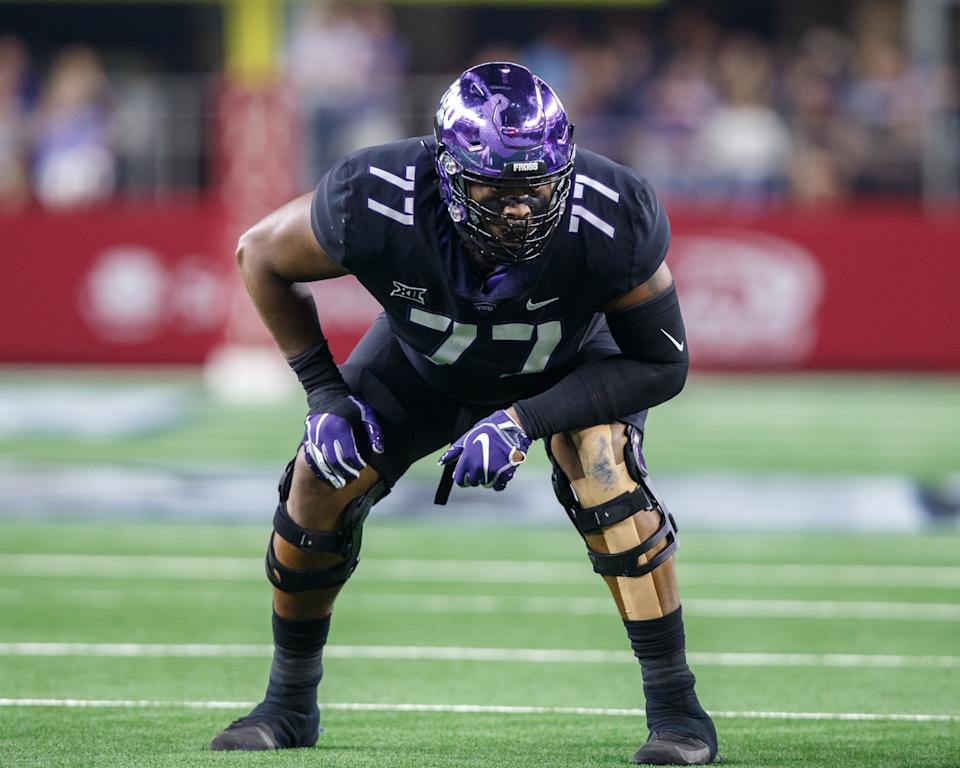 TCU's Lucas Niang might miss the Senior Bowl after his season-ending hip injury but could be healthy before the NFL scouting combine. (Getty Images)