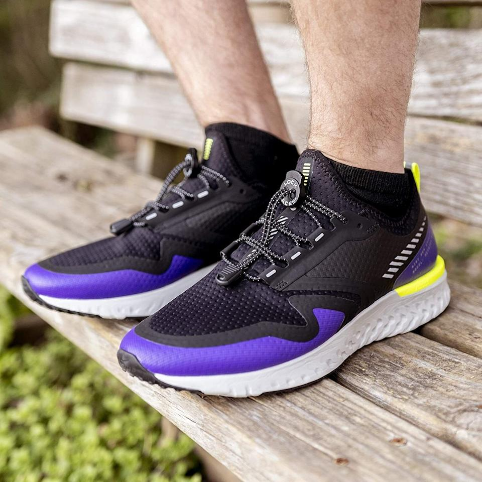 """Walk, jog and run without worrying about tripping over untied laces ever again!<br /><br /><strong>Promising review:</strong>""""I can't believe just how pumped I am over these shoelaces! They make me wanna slip my shoes off and on just because I can! <strong>...</strong>Welcome to the 21st century!"""" —<a href=""""https://amzn.to/3fsO2M3"""" target=""""_blank"""" rel=""""nofollow noopener noreferrer"""" data-skimlinks-tracking=""""5851345"""" data-vars-affiliate=""""Amazon"""" data-vars-href=""""https://www.amazon.com/gp/customer-reviews/R1CY2N5LY6J9AV?tag=bfnusrat-20&ascsubtag=5851345%2C26%2C34%2Cmobile_web%2C0%2C0%2C16364225"""" data-vars-keywords=""""cleaning,fast fashion"""" data-vars-link-id=""""16364225"""" data-vars-price="""""""" data-vars-product-id=""""20962527"""" data-vars-product-img="""""""" data-vars-product-title="""""""" data-vars-retailers=""""Amazon"""">dm925<br /><br /></a><strong><a href=""""https://amzn.to/3u0xP65"""" target=""""_blank"""" rel=""""noopener noreferrer"""">Get it from Amazon for$8.99(available in 13 colors).</a></strong>"""