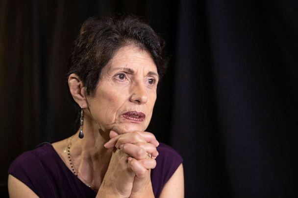 PHOTO: In this June 19, 2019, photo, Diane Foley, mother of journalist James Foley, who was killed by the Islamic State terrorist group in a graphic video released online, speaks to the Associated Press during an interview in Washington. (Manuel Balce Ceneta/AP, FILE)
