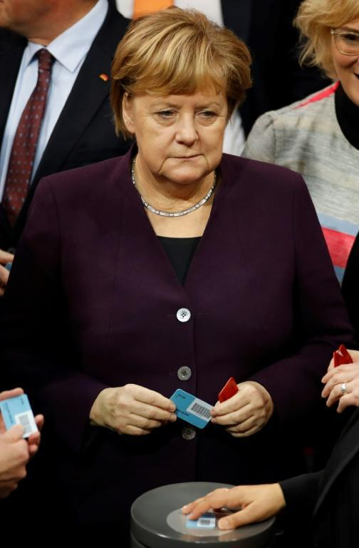 Merkel, in power for 14 years, has said she would step down when her term ends in 2021 (AFP Photo/Odd ANDERSEN)