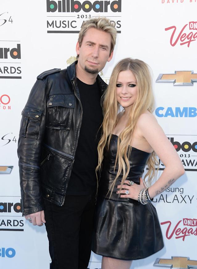 Chad Kroeger and Avril Lavigne arrive at the 2013 Billboard Music Awards on May 19, 2013. (Photo: Jason Merritt/Getty Images)