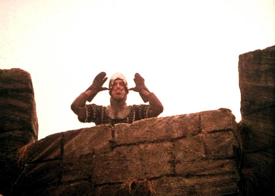 """<a href=""""http://movies.yahoo.com/movie/monty-python-and-the-holy-grail/"""" data-ylk=""""slk:MONTY PYTHON AND THE HOLY GRAIL"""" class=""""link rapid-noclick-resp"""">MONTY PYTHON AND THE HOLY GRAIL</a> (1975) <br>Directed by: <span>Terry Gilliam</span> and <span>Terry Jones</span><br>Starring: <span>Graham Chapman</span>, <span>John Cleese</span>, <span>Terry Gilliam</span> and <span>Eric Idle</span>"""