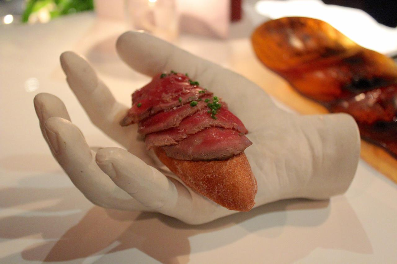 "<p>One of Bazaar by <span style=""background:white"">José Andrés' most popular items, sculpture modeled after chef José Andrés' hand.</span></p>"