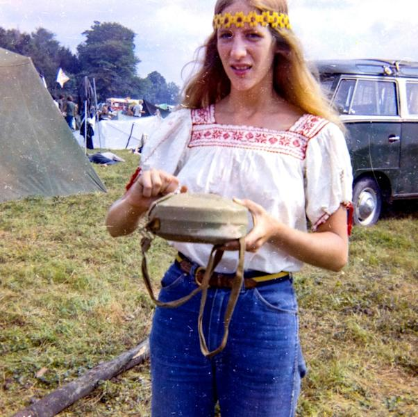 Annie Birch, an attendee of the 1969 Woodstock festival which marks its 50th anniversary this year (AFP Photo/Annie BIRCH)