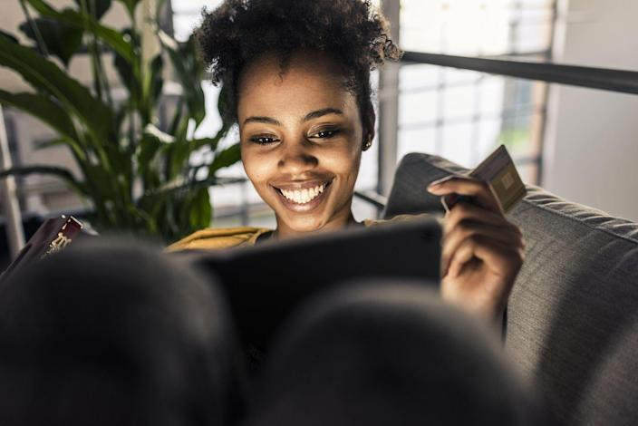 """<p>I can't say it enough: You really need to be careful when it comes to credit cards, as they make it pretty easy to rack up debt. If you feel confident in your ability to pay off your bill every month, then see if you can get approved for a <a href=""""https://www.thebalance.com/earn-money-credit-card-4036846"""" rel=""""nofollow noopener"""" target=""""_blank"""" data-ylk=""""slk:credit card that offers travel rewards or cashback"""" class=""""link rapid-noclick-resp"""">credit card that offers travel rewards or cashback</a> to make your spending work harder for you. </p>"""