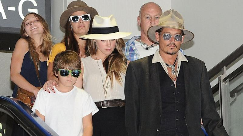 Johnny Depp and Amber Heard Photographed in Japan with His Kids