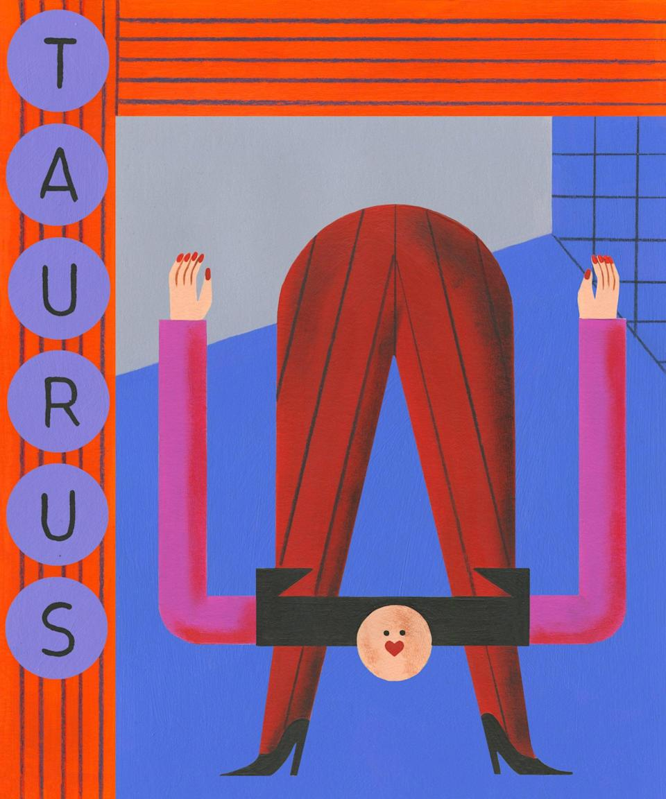"""<strong><h4>Taurus</h4></strong><br>The journey to self-love that you've been embarking on for months has given you many chances to grow as a person. But, nothing can prepare you for the emotional and mental reset that October brings. It has been a long road to this point, with many months of frustrating elements getting in the way of healing. Now the time has come to rebuild your life. When Venus enters Sagittarius on October 7, the day <a href=""""https://www.refinery29.com/en-us/moon-phase-birthday-emotions-personality"""" rel=""""nofollow noopener"""" target=""""_blank"""" data-ylk=""""slk:after the Libra new moon"""" class=""""link rapid-noclick-resp"""">after the Libra new moon</a>, you'll be able to transform your world little by little. Tears will be shed on October 9 when Venus aligns with the South Node of Destiny in Sagittarius, giving you the opportunity to go deep within and make the necessary changes needed to become a better person. <span class=""""copyright"""">Illustration by Stefhany Lozano</span>"""