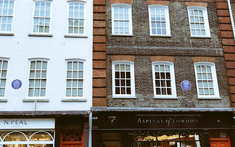 Jimi Hendrix lived here, left, next door to and two centuries later than George Frideric Handel
