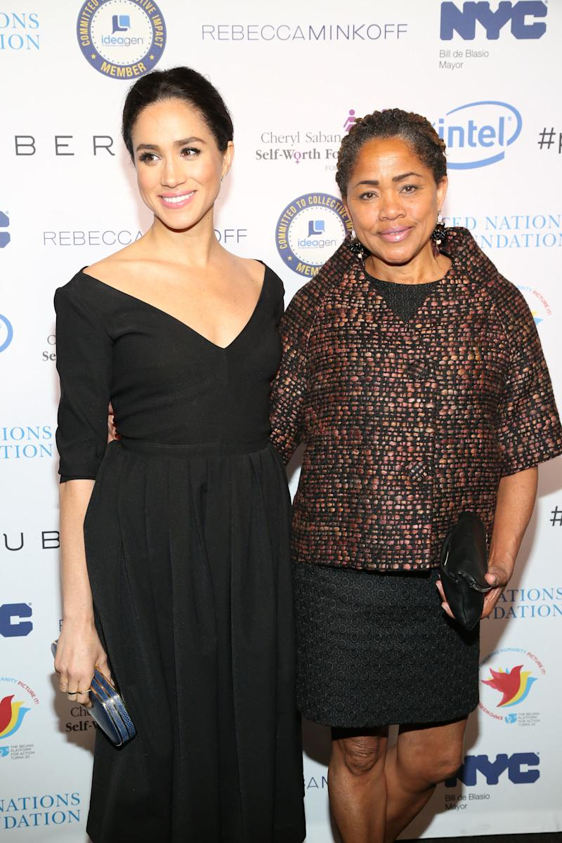 """We can just have so much fun together, and yet, I'll still find so much solace in her support,"" Meghan wrote about her mom in 2017. (Sylvain Gaboury via Getty Images)"