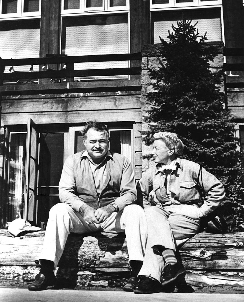 """<p>In 1959, Ernest and Mary <a href=""""https://www.letsgoboise.com/ernest-hemingway-idaho-sun-valley/"""" rel=""""nofollow noopener"""" target=""""_blank"""" data-ylk=""""slk:settled down in Sun Valley, Idaho"""" class=""""link rapid-noclick-resp"""">settled down in Sun Valley, Idaho</a>, where the writer had enjoyed hunting and fishing for decades with his friend, Gary Cooper. </p>"""
