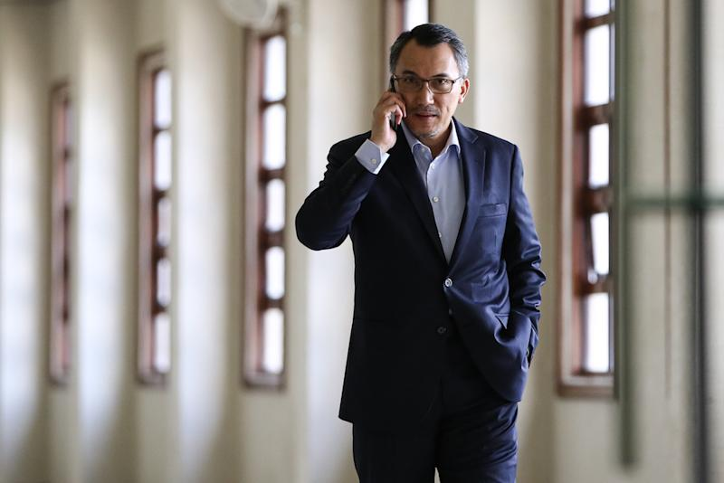Former SRC International Sdn Bhd chairman Tan Sri Ismee Ismail is pictured at the Kuala Lumpur Court Complex, June 17, 2019. — Picture by Yusof Mat Isa