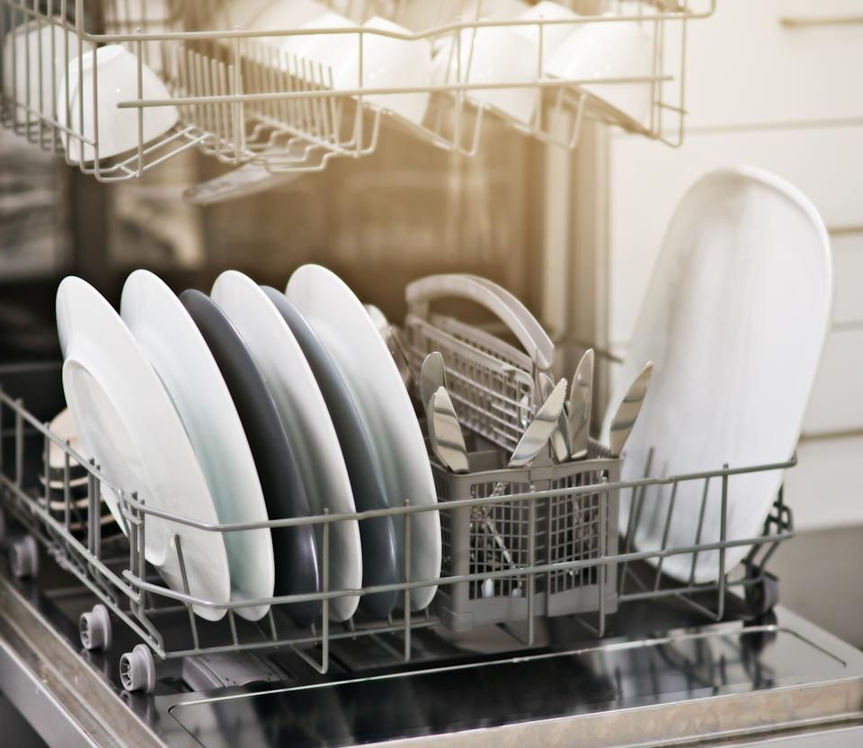Shot of a dishwasher at home