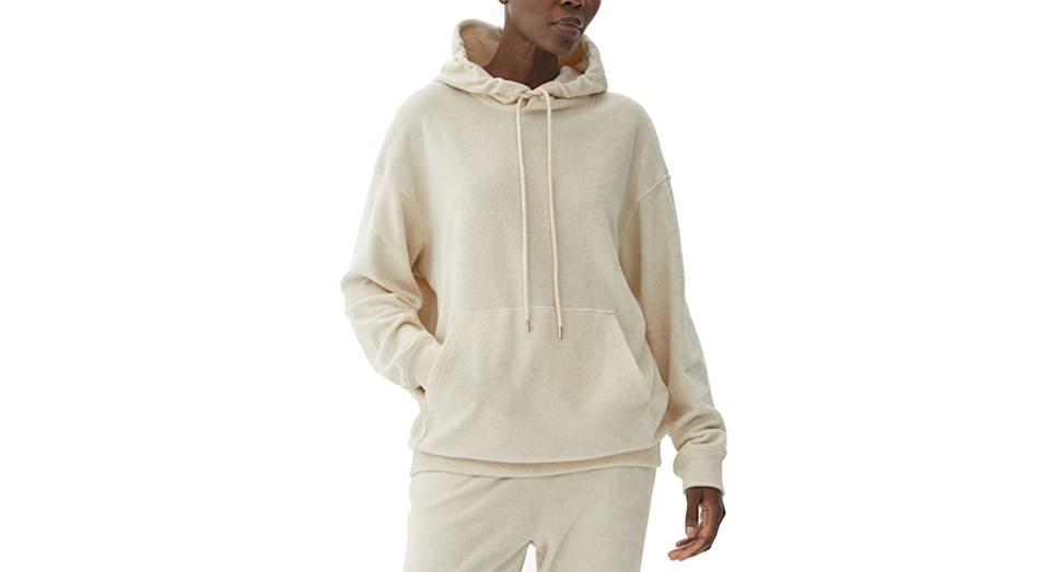 Hooded Towelling Sweatshirt