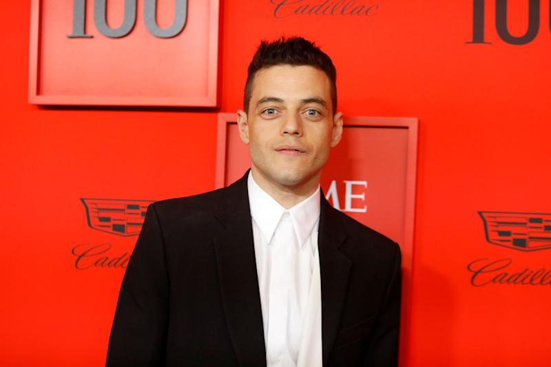 Rami Malek poses upon arriving for the Time 100 Gala celebrating Time magazine's 100 most influential people in the world in New York, U.S., April 23, 2019. REUTERS/Andrew Kelly